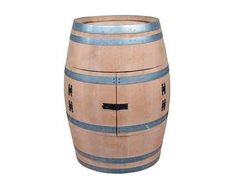 Temesso Weinfass als Weinregal Weinschrank Bar - geschliffen (unbehandelt) (Ohne Tischplatte)