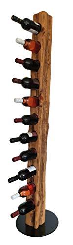 Wood & Wishes – Rustikaler Weinständer, Weinregal, Weinhalter aus Massivholz; gefertigt in...