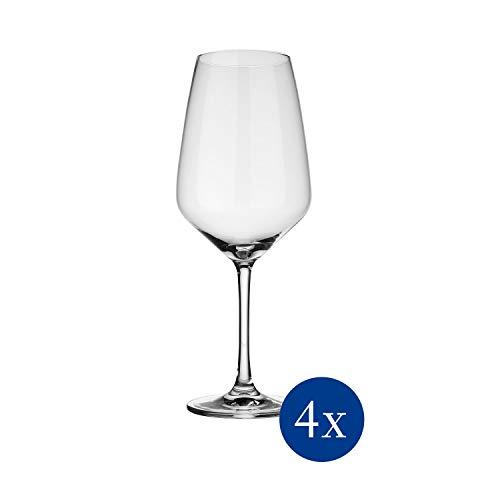 vivo by Villeroy & Boch Group - Voice Basic Rotweinglas-Set, 4-tlg., 497 ml, Kristallglas, klar,...
