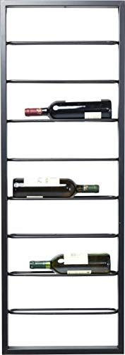 Kare Design Hängeweinregal Bistro 120cm, Schwarzes Standregal für Weinflaschen in Zeitlosem...