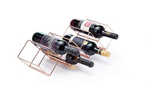 Bar Craft Weinregal stapelbar für 7 Flaschen aus Kupfer, 8 x 16 x 26 cm