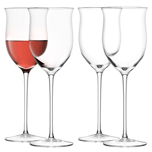 LSA International 400 ml Wein Rose Glas, klar (4 Stück)