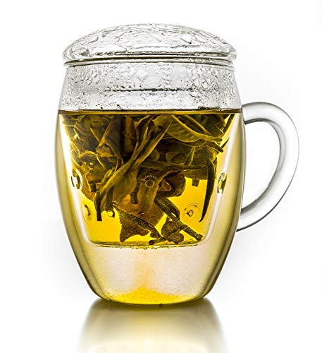 Große Teetasse mit Sieb und Deckel