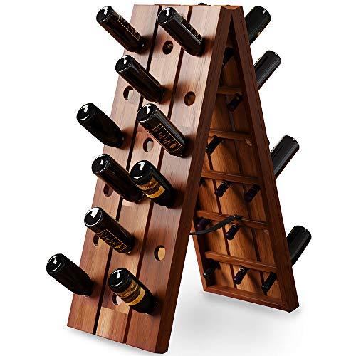 Deuba Weinregal Flaschenregal Holz Für 36 Flaschen Freistehend Klappbar Rüttelbrett...