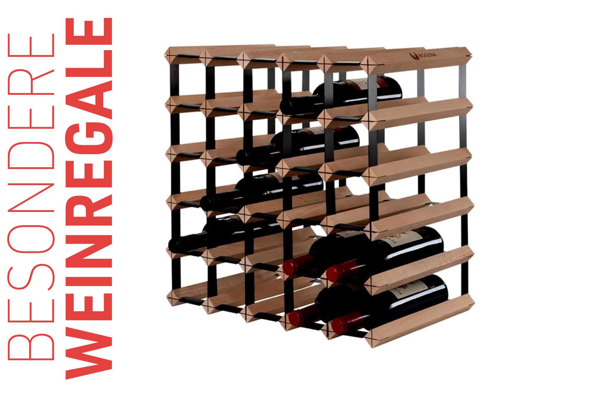 Besondere Weinregale - Eine Übersicht mit 9 Kategorien